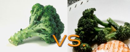 raw vs cooked broccoli