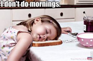 El desayuno es importante, menos cuando sigues dormid@